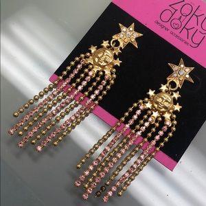 Kirks Folly Jewelry - Vintage Kirks Folly Moonface/Star Earrings,NWT